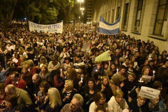 La multitudinaria marcha realizada el jueves 25 de agosto.