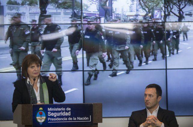 La ministra. Patricia Bullrich dio detalles del nuevo plan en conferencia de prensa.