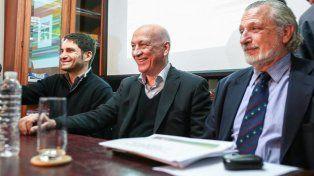 Pullaro y Silberstein junto a Antonio Bonfatti