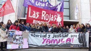 Multisectorial. El reclamo en las escalinatas de Balcarce y Montevideo por libertad y justicia.