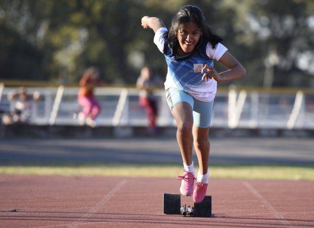 Largada. La atleta de 22 años correrá los 100 y 200 metros llanos. La mayor expectativa está en la primera de esas pruebas.