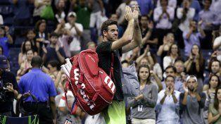 Del Potro se despidió del US Open ovacionado por el público.