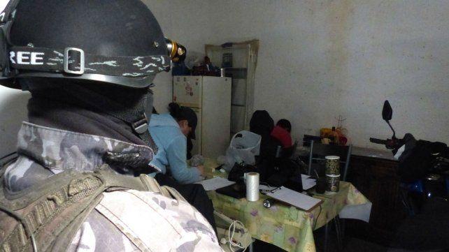Un allanamiento antidrogas realizado en la periferia de Rosario.