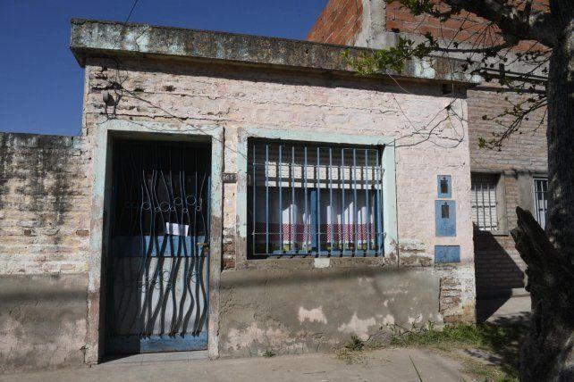 Humilde. La casa donde vive y fue atacado Marcelo