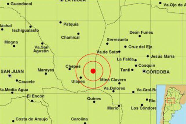El epicentro del temblor.