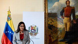 La canciller Delcy Rodríguez.