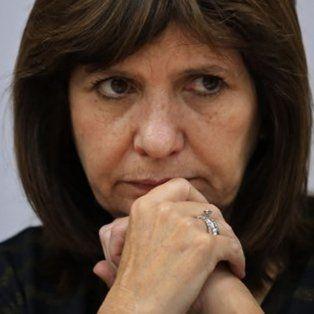 La ministra. Los pasos deben ser concretos, afirmó Patricia Bullrich.