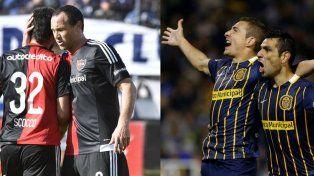 Scocco marcó ante Quilmes cuando había entrado Matos. Una dupla para el futuro. Ruben y Herrera en uno de los tantos festejos compartidos.