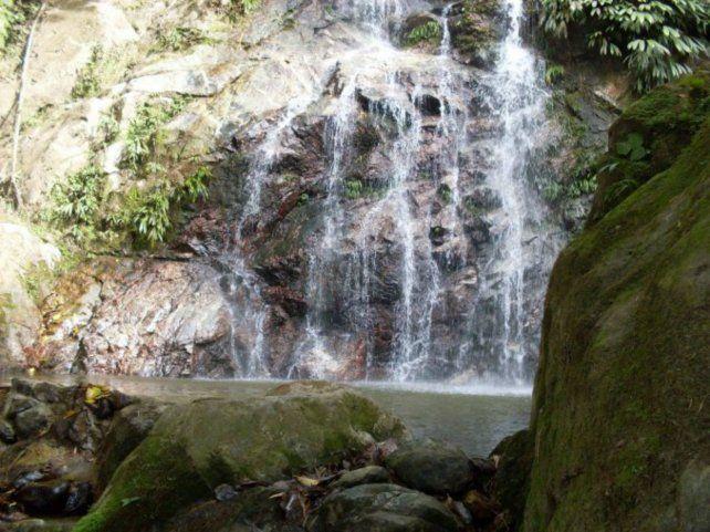 La cascada de Santa Marta por la que cayó Nicolás Lang.