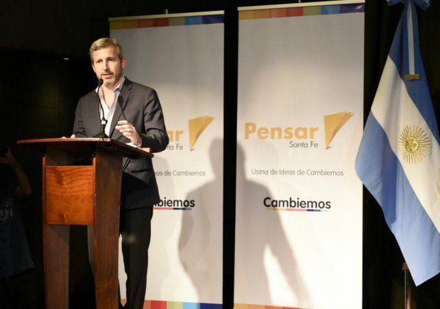 El Ministro del Interior estuvo en Rosario para el relanzamiento de la Fundación Pensar en Rosario.