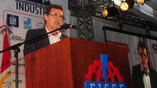 Intenso. El secretario de Industria de la Nación habló en Pérez ante un auditorio preocupado por su futuro.