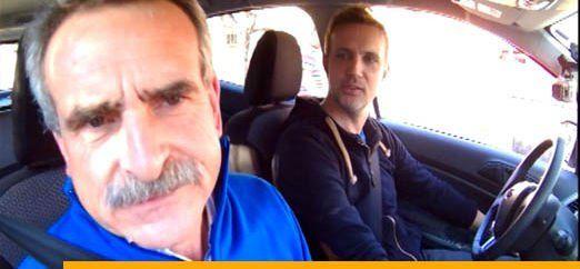 Agustín Rossi y Cavatorta en el segmento del programa llamado Subí que te llevo