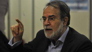 Crítico. Arnaldo Bocco estuvo en Rosario invitado por el Movimiento Evita.