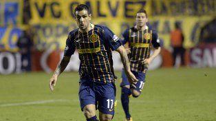 Entonado. Germán Herrera anotó un gol en el empate 2-2 ante Rafaela por Copa Argentina.