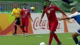 Un iraní convirtió un gol maradoniano en los Juegos Paralímpicos