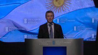 Macri en el Foro de Inversión y Negocios de la Argentina.