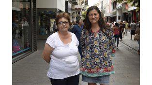 Las profesoras Elvira Scalona y Beatriz Argiroffo