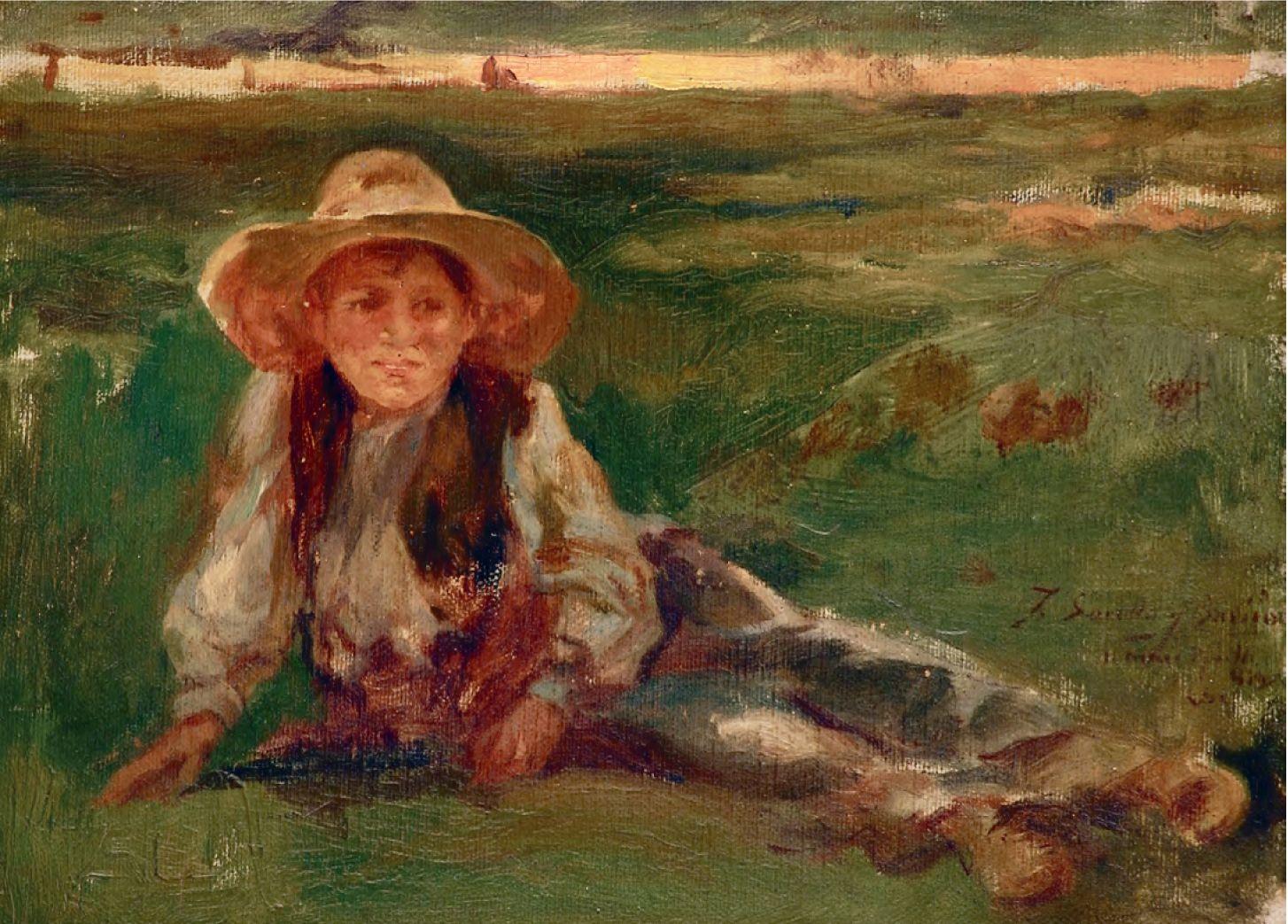 En exposición. Óleo sobre tela de Joaquín Sorolla y Bastida (1863-1923)