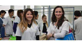 Las odontólogas Valeria Fernández y Georgina Antoneda