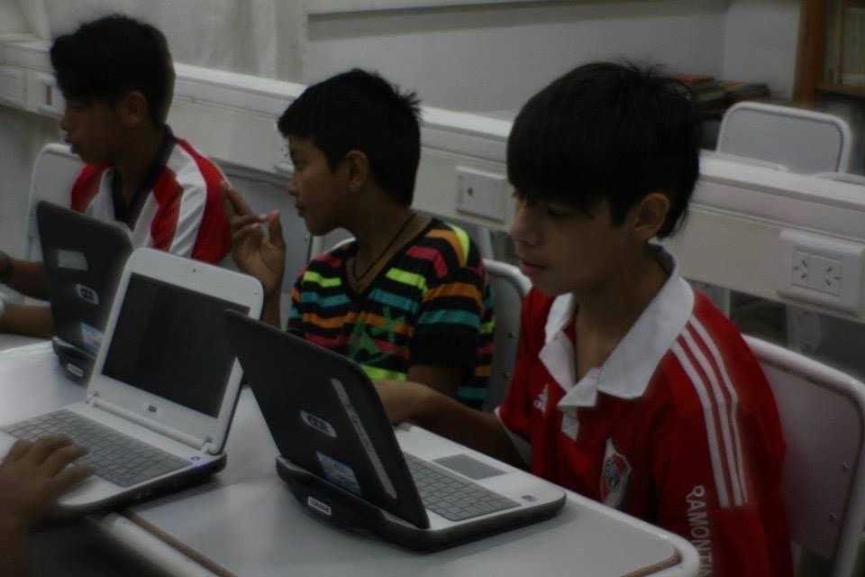 El uso de las netbooks en clase resultó otra posibilidad de aprendizaje.