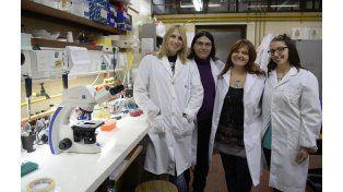 En equipo. La científica Daniela Gardiol junto a integrantes de su grupo de trabajo en el IBR.