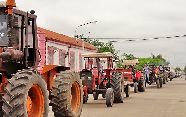 En la calle. Chacareros reclaman otra política agropecuaria de la Nación.