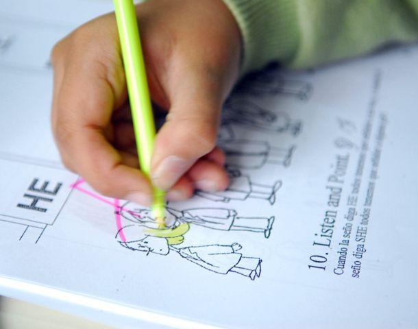 La mayoría de las primarias optaron por la enseñanza del inglés. (Foto: S. Suárez Meccia)