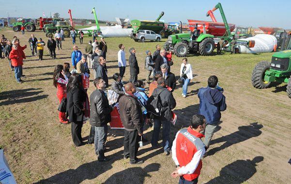 En acción. El primer día de exposición arrancaron a todo ritmo las dinámicas en un predio de unas 400 hectáreas.