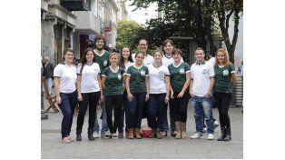 Los jóvenes de Veterinarias que promueven estas competencias universitarias regionales. (Foto: S. Salinas)