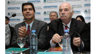 Ministros. Capitanich y Casamiquela