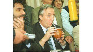El día de la visita histórica del ex presidente Néstor Kirchner a Entre Ríos.