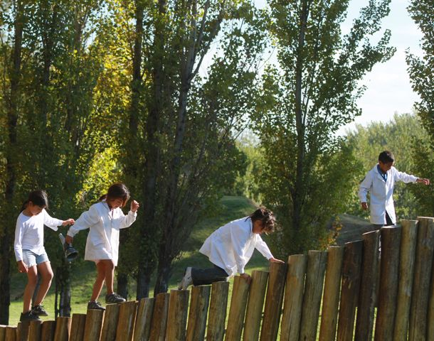 """La Granja de la Infancia es una de las """"postas"""" donde Escuela Móvil se detiene a trabajar con los chicos. (Foto: gentileza G. Turín)"""