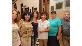 Los profesores Julieta Seffino