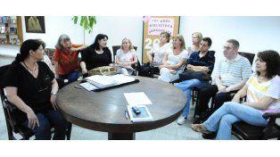 Los profesionales reunidos en la Biblioteca Pedagógica Eudoro Díaz