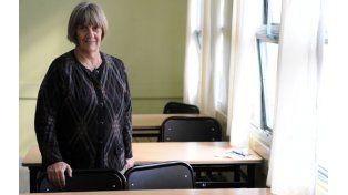 """La profesora Cattaneo dice que """"cada vez hay menos espíritu de trabajo y dedicación al estudio"""". (Foto: C. Mutti Lovera)"""