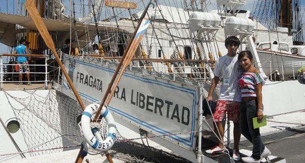 Dos rosarinos compartieron una travesía en la Fragata Libertad