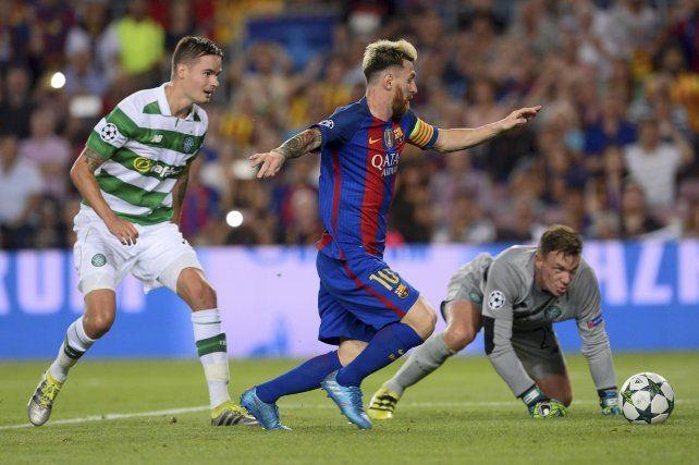 Los tres goles de Messi en la histórica goleado de Barcelona sobre Celtic por la Champions