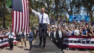 A la cancha. Obama sacó a relucir su carisma y dotes discursivas en Pensilvania. Hacía 7 semanas que no lo hacía.