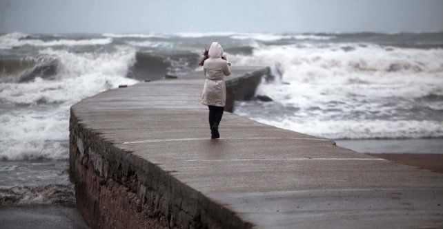 Mar del Plata. El ciclón provocó olas gigantes. Más de 100 árboles cayeron en el bosque de Peralta Ramos.