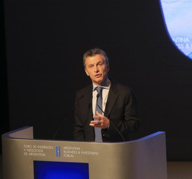 Arenga. Macri invitó a los empresarios a invertir en Argentina.
