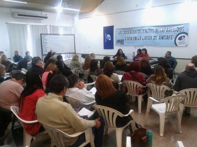 Reunión de delegados seccionales de Amsafé.