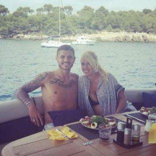 Wanda y Mauro, en una imagen de sus últimas vacaciones.
