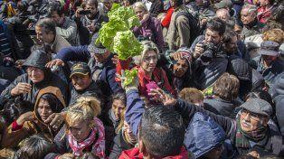 Una protesta de pequeños y medianos productores se llevó a cabo hoy en la Plaza de Mayo