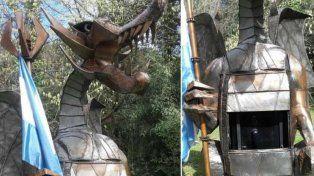 La estructura de acero se encuentra en la casa de un ex funcionario sciolista.