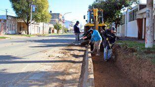 Remodelación. Las tareas comenzaron en avenida Dorrego al 1400.