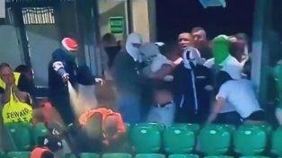 Batalla campal en un partido de la Champions League