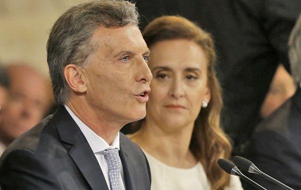 El líder del cambio. Macri junto a Gabriela Michetti