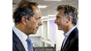 """Frente a frente. Scioli y Macri serán los protagonistas de """"Argentina debate"""""""