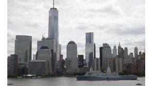 El bajo Manhattan. La altura del One World Trade Center sobresale en la reconstruida zona del atentado del 9/11.