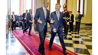 camino. Los presidentes Barack Obama y Mauricio Macri